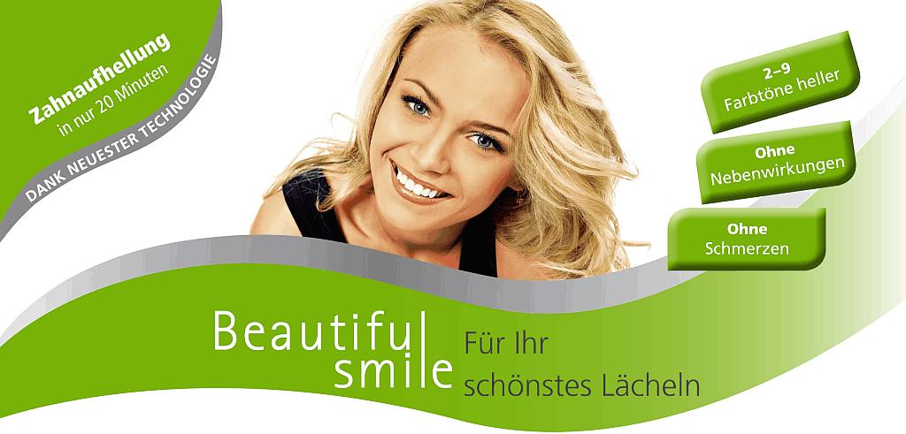 """Werbegrafik für """"Beautiful Smile"""" in der Zahnarztpraxis Jasmin Festor"""